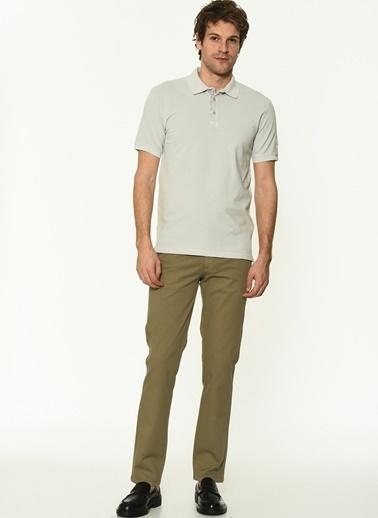 George Hogg Erkek 7004654 Slim Fit Tshirt Taş